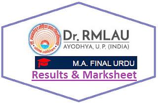 RMLAU MA Urdu Final Result 2021