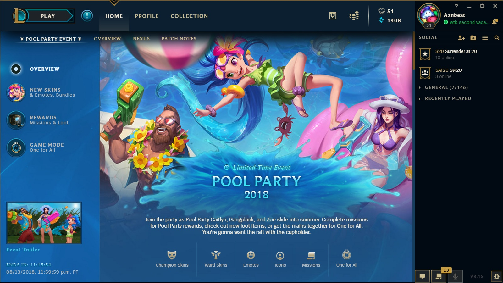 Surrender at 20: Pool Party 2018 - Pool Party Caitlyn, Gangplank and