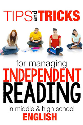 How can you manage independent reading in middle and high school?