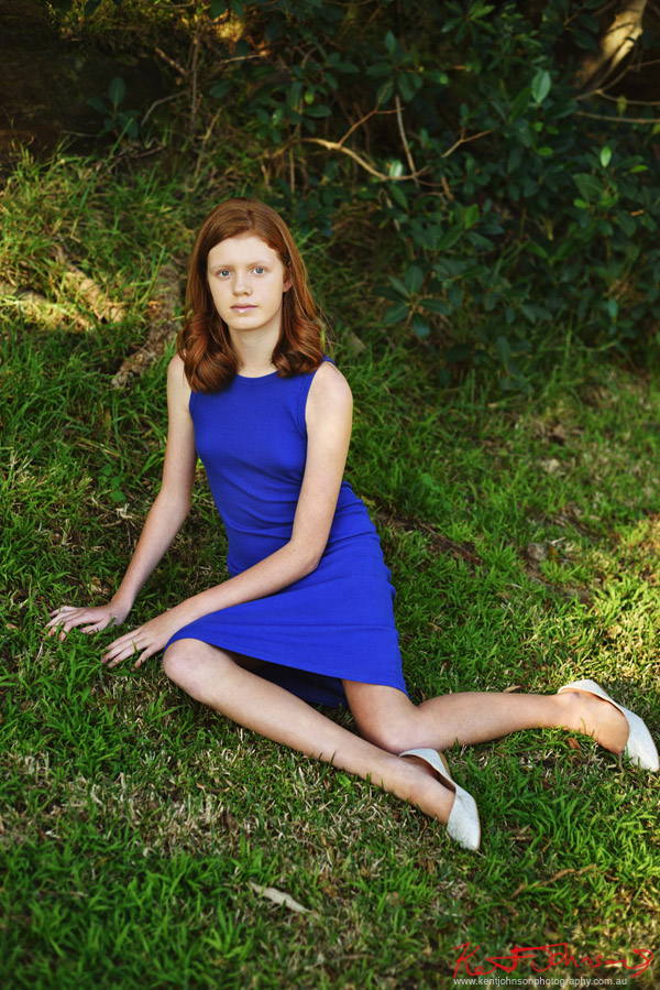 Stretched out on the green grass - Modelling portfolio Sydney - Photography by Kent Johnson