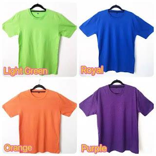 Pesan Kaos Polos Combed Original di Nanga Bulik