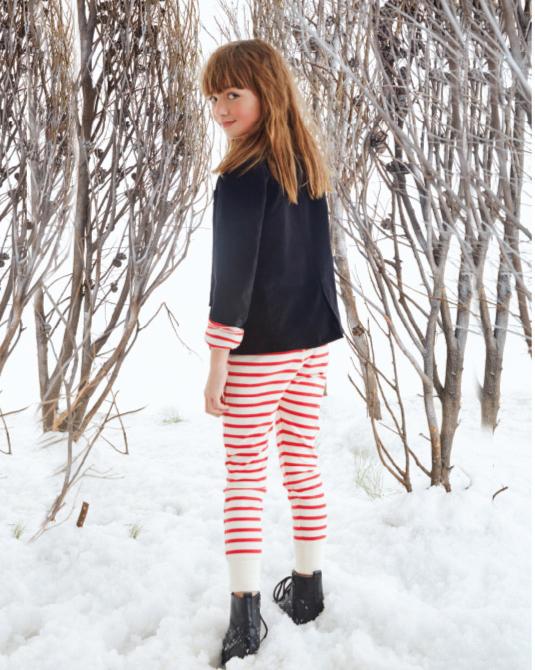 Calzas a rayas invierno 2017 para nenas. Moda invierno 2017.