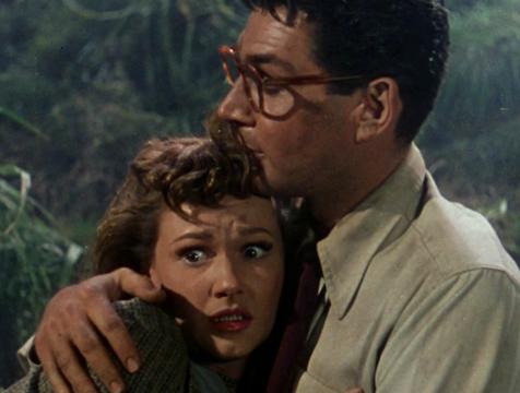 Clayton (Gene Barry) y Sylvia (Ann Robinson), La guerra de los mundos 1953 - Cine de Escritor