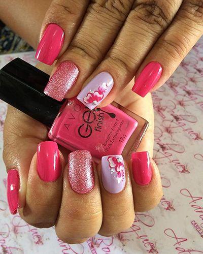 unhas decoradas rosa 7