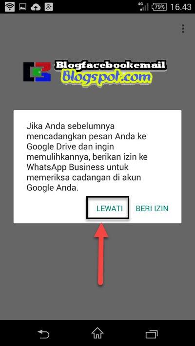 mengskip backup whatsapp