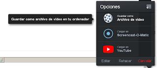 selecciona la opcion donde quieres compartir el video ya sea en youtube o en tu pc