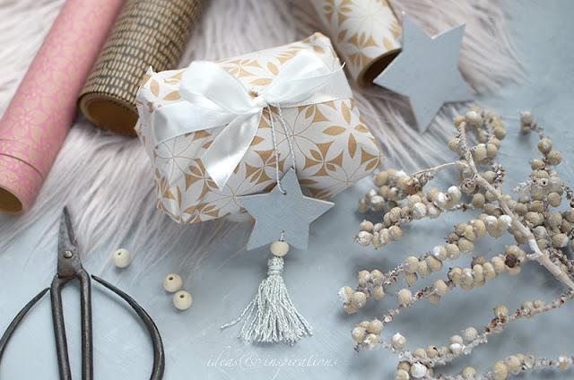 Aus Balsaholz Sterne basteln für Weihnachtsgeschenke