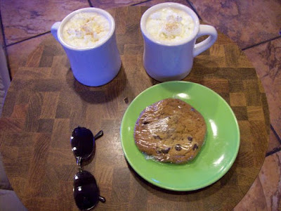 western diet, sugar health risk, spiritual path, spiritual health, cookie, hot chocolate, sunglasses,