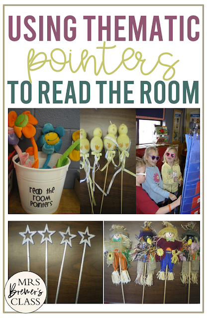 Using pointers to Read the Room in the classroom & they can be switched out go with each monthly theme