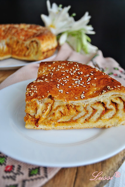Питка Айварка / Tomato-Pesto Swirl Bread