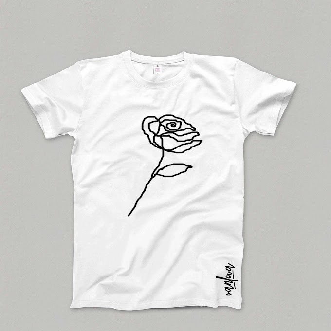 "white ""Rose""T-shirt"