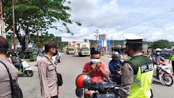Personil Polres Nias Laksanakan Operasi Yustisi, Mencegah dan Memutus Rantai Penyebaran Covid-19