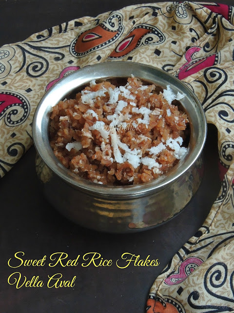 Sweet rice flakes, vella aval
