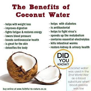 manfaat air buah kelapa untik kesehatan