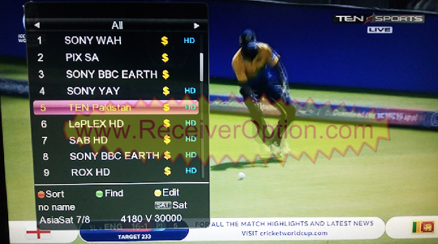 GX6605S 5815 V4.1 TYPE HD RECEIVER TEN SPORTS OK NEW SOFTWARE
