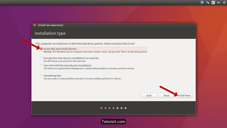 Cara instal Ubuntu 16.04