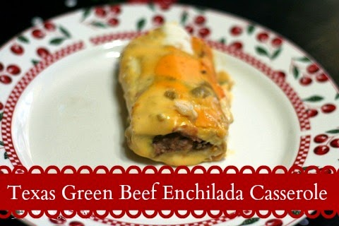 Recipe for Texas Green Beef Enchilada Casserole