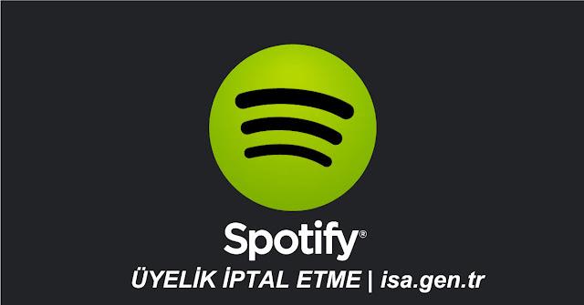 spotify üyelik iptali