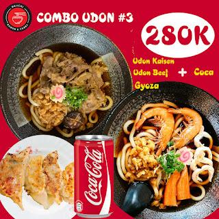 Udon Kaisen Udon Beef Gyoza Coca