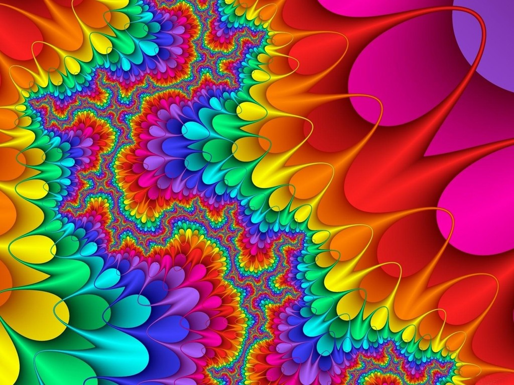 Retro Colorful Rainbow Colored Design Wallpapers