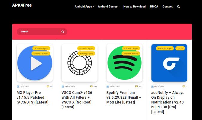 Situs Terbaik Untuk Download Aplikasi Premium - Apk4Free