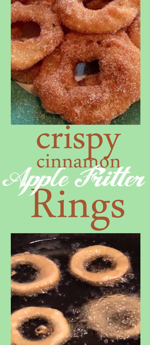 Homemade Crispy Apple Fritter Rings - Food, Fun, and Happiness