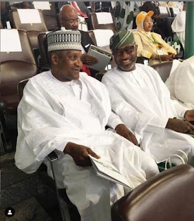Femi Otedola And Dangote Pictured Together At The Inauguration Ceremony (Photo)