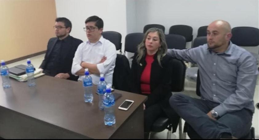 Torrez y Poppe en la audiencia del 18 de julio en la Sala Constitucional en Sucre / FACEBOOK HORACIO POPPE