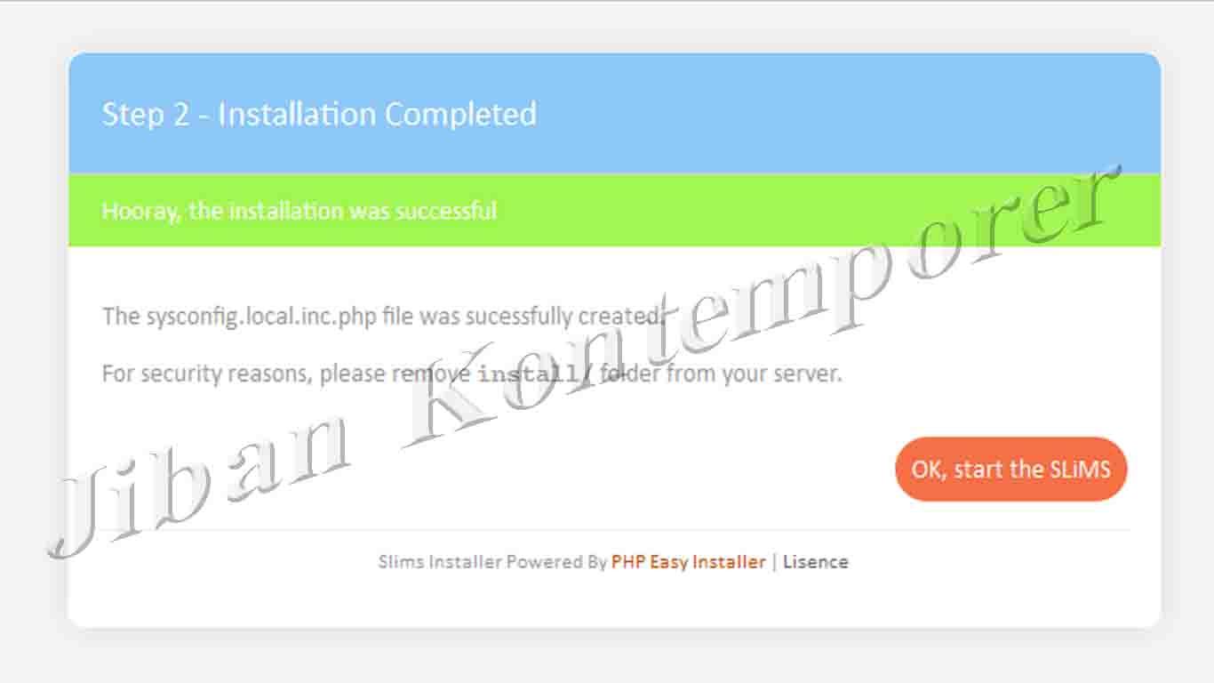 P 002 Install Web Perpustakaan Di Server Lokal Dengan