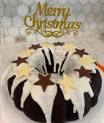 Christmas Gluten Free Chocolate Fudge Bundt Cake