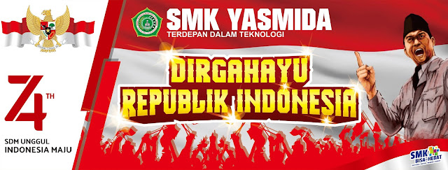 Contoh Banner HUT 74 Dirgahayu Republik Indonesia