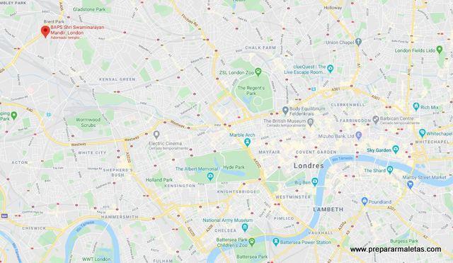 localización de Neasden en Londres