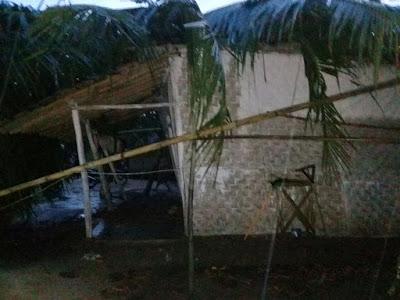 Angin Puting Beliung Terjang Desa Pelindung Jaya Lampung Timur