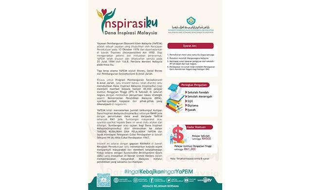 Bantuan Pendidikan Dana Inspirasi Malaysia (Inspirasiku) Daripada YAPEIM