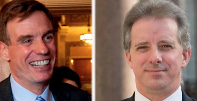 Democratic Sen. Mark Warner texted with Russian oligarch lobbyist in effort to contact dossier author Christopher Steele