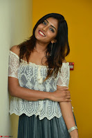 Eesha in a cute deep neck top and Skirt at at Big FM 101.JPG