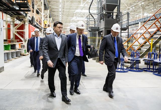 Губернатору показали уникальную лабораторию на трубном заводе Сергиев Посад