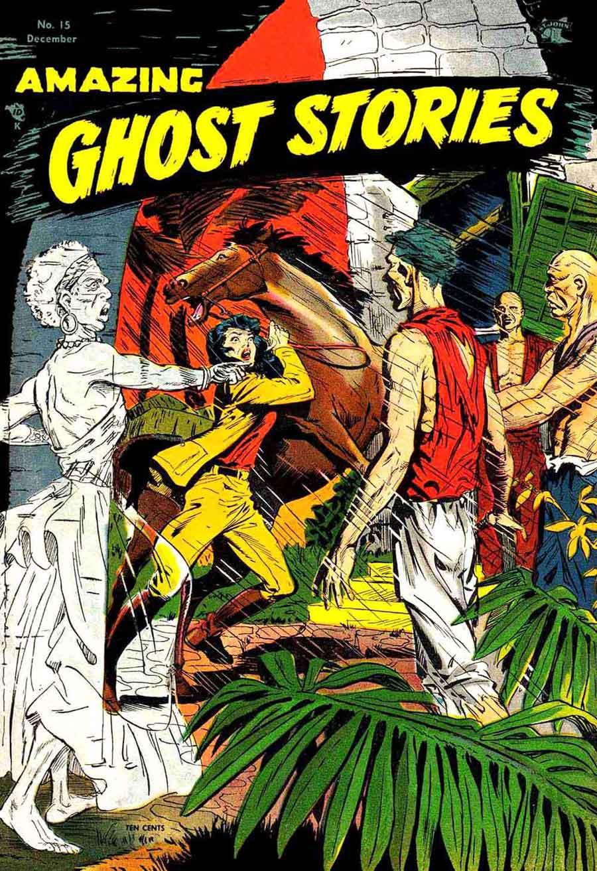Amazing Ghost Stories v1 #15 - Matt Baker 1950s golden age comic book cover art