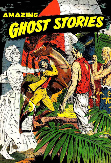 Amazing Ghost Stories v1 #15 - Matt Baker 1950s golden age comic book cover art