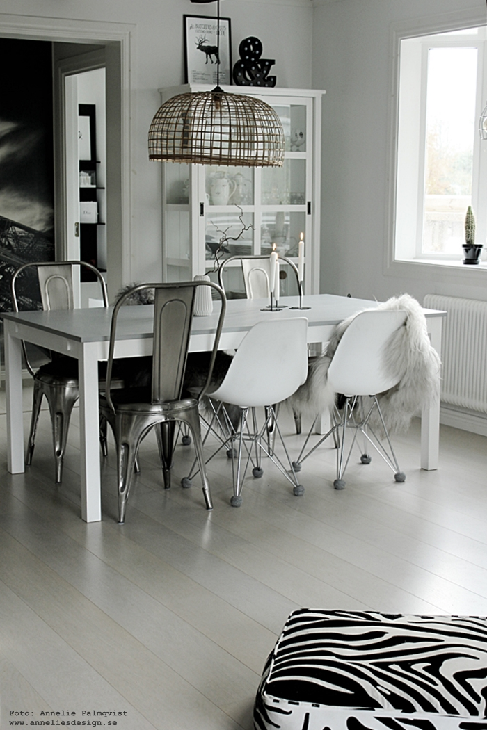 annelies design, webbutik, webshop, nätbutik, nettbutikk, inredning, matsal, kök, svart och vitt, svartvit,svartvita,