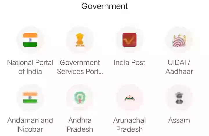 Indian government website list