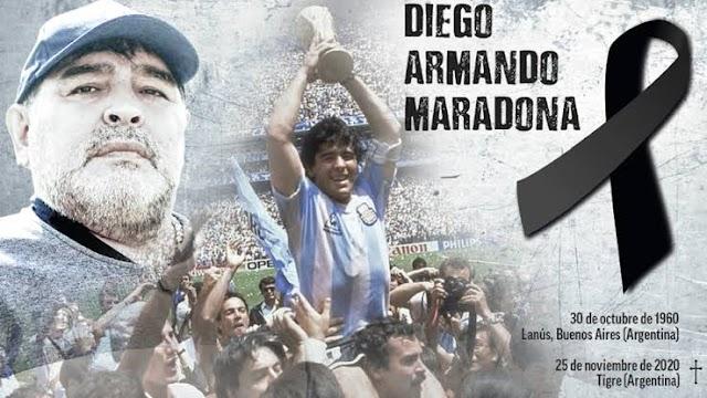 Football legend Diego Maradona dies of heart attack at 60