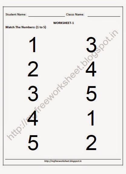 Free Nursery Printable Worksheets Match The Body Parts 1