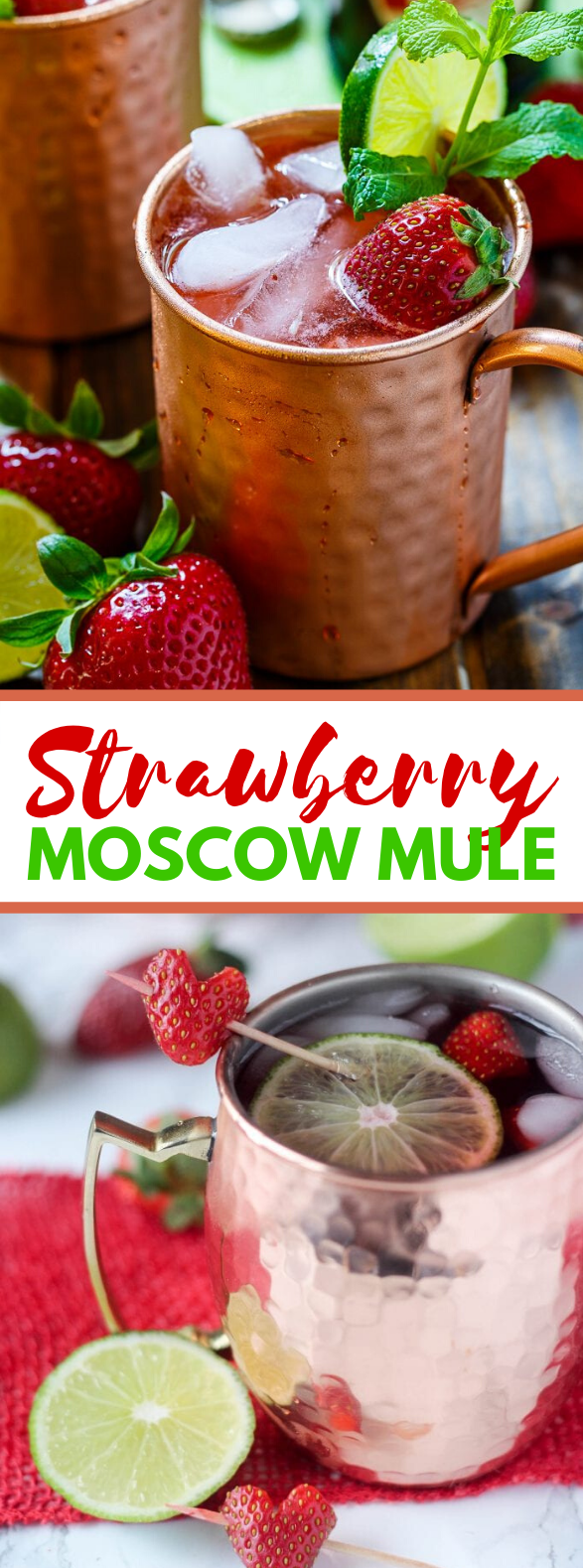 STRAWBERRY MOSCOW MULES #drinks #cocktails