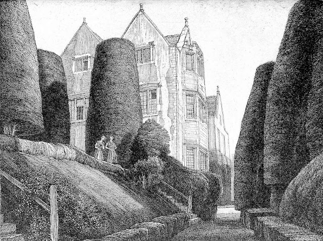 a topiary garden path by F.L. Griggs