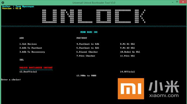 Universall Unlock Bootloader Tool Xiaomi & Vivo One Click