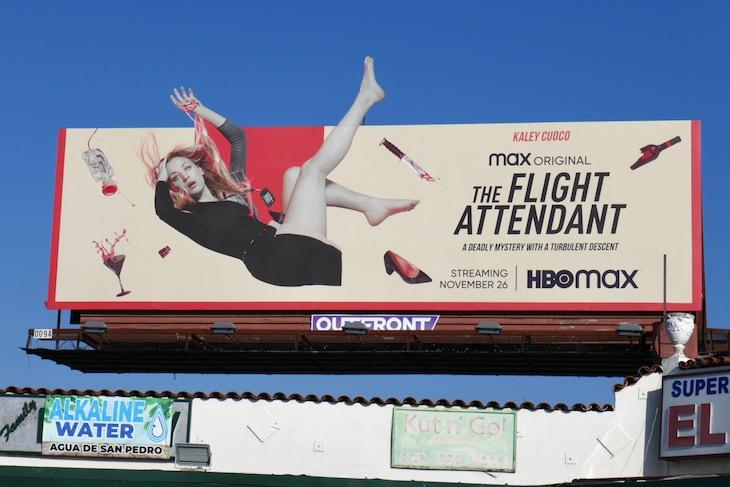 Flight Attendant series premiere billboard
