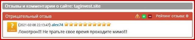 taginvest.site отзывы о сайте