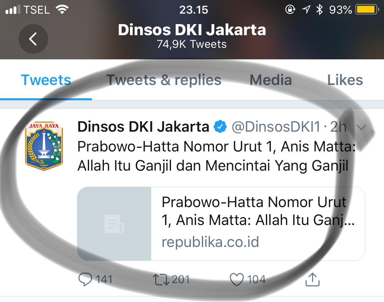Heboh Kicau Dinsos DKI: Senggol Prabowo dan Anis Matta