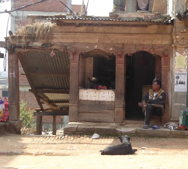 una bottega a Bhaktapur